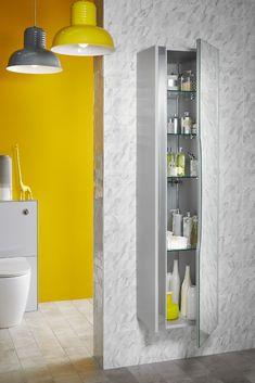 Lustre bathroom cabinet in powder grey from Utopia Bathrooms. Fitted Bathroom Furniture, Bathroom Medicine Cabinet, Color Combinations, Bathrooms, Powder, Range, Grey, Cluster Pendant Light, Color Combos
