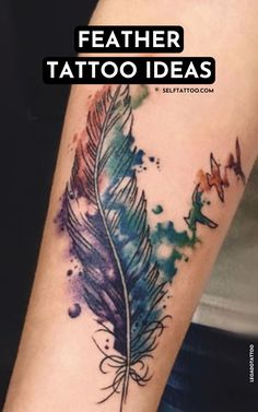Feather Tattoo Ideas   Tattoo Designs - Are you thinking about getting a feather tattoo? Feathers have a long history of meaning and symbolism in human cultures all across the world. Click here to read more about the common meanings behind feather tattoos. Self Tattoo   Tattoo Ideas   Tattoos For Guys   Tattoos For Women   Mini Tattoos   Minimalist Tattoos   Feather Tattoos For Women   Feather Tattoos Small   Feather Tattoos Men   Feather Tattoos On Foot   Feather Tattoos Behind Ear