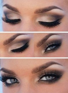Amazing Makeup Tutorial for Blue Eyes                                                                              Source