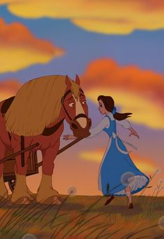 """""""Beauty and the Beast"""" - Belle and Phillipe."""