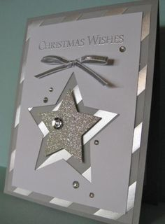 Glimmer Holiday Star Card - Cards and Paper Crafts at Splitcoaststampers - thanks Barb