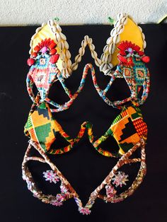 Carnival Wire Bras Also Good For Monday Wear - Can be customized - African themed Carnival Fashion, Diy Carnival, Carnival Outfits, Carnival Festival, Carribean Carnival Costumes, Caribbean Carnival, Samba, Moon Costume, African Print Clothing