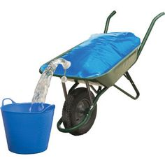 Wheelbarrow Water Bag - Water Storage Container - Portable Water Carrier Bag - Large Water Container - Camping Builders Gardeners Picnic - Foldable Collapsible Large Capasity - Blue 20 Gallon 80 L Horse Barns, Horse Tack, Horse Stables, Large Water Containers, Materiel Camping, Horse Supplies, Horse Riding, Large Bags, Equestrian