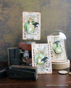 Riikka Kovasin - Paperiliitin: Keys to the wine cellar - Sizzix Midsummer's Eve, Sizzix Dies, Prima Marketing, Send Me, Wine Cellar, Halloween Themes, Atc, Card Stock, Mixed Media
