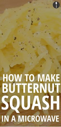 how to prepare butternut squash in microwave