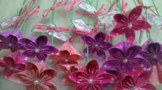 Flores de origami como souvenirs!