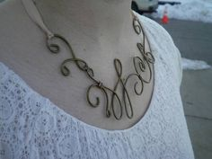 Necklace made from a clothes hanger - JEWELRY AND TRINKETS