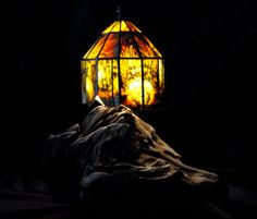 Jade Lamp Shade with NZ West Coast Driftwood by RockMyWorldGallery, $6500.00