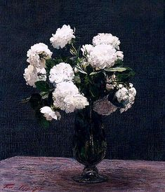 White Roses Henri Fantin-Latour - 1875