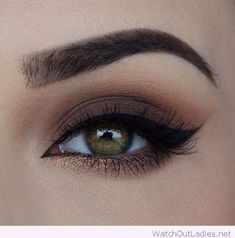 Perfect brown and bronze combination for an eye makeup. Easy, Simple, Step By Step Tutorial For Eye Makeup For Brown Eyes For That Give That Natural Everyday Look. Whether You Are Looking For A Dramatic Or Smokey Look, or A Summer or Prom Look, We Have E (prom eye makeup thoughts)