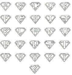 7 Best Images of Printable Superman Logo Alphabet - Superman Letters Free Printables, Superman Logo with Different Letters and Printable Superman Logo Letter Superman Logo, Superman Symbol, Superman Cakes, Letter T, Letter Logo, Letters And Numbers, Silhouette Projects, String Art, Coloring Pages
