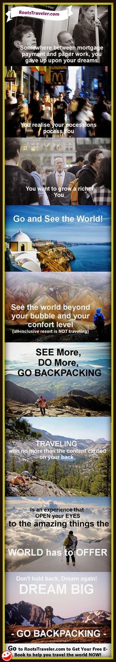 Advocacy for more #Backpacking Travel