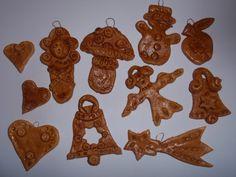 návod na výrobu vánočních ozdob ze slaného těsta