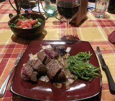 A 5-star recipe for Seared Venison Backstrap With Caramelized Onions And Rosemary made with venison backstrap, balsamic vinegar, olive oil, white or yellow onion, garlic, rosemary