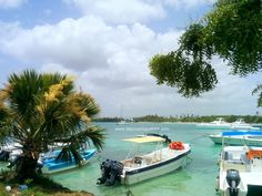 Very muggy afternoon in Bayahibe. This is a view from the village side of the marina bay towards Dreams La Romana.