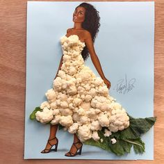 Dress made of cauliflower by Edgar Artis