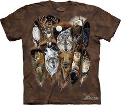 Animal Shirt Tie Dye T-shirt Wildlife Feathers Adult Tee Wildlife Shirts Animal T-Shirts Tee Available in Medium, Large, XL, 2XL & 3XL Officially