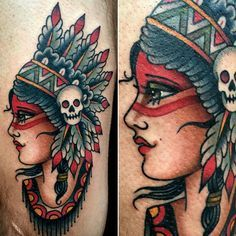 ~ New Traditional tattoo ~ indian