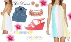 Vestido gasas multicolor, ideal verano  Party summer look  https://m.facebook.com/YouDressUru