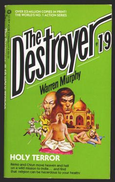 THE DESTROYER by Richard Sapir and Warren Murphy. #19 HOLY TERROR: Paperback, FN+, (Published 1975), 7th Printing, Pinnacle Books, $5