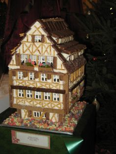 Tudor style? I love how they used the pretzels to create the timber framing.