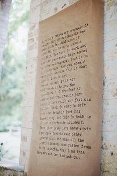 ceremony reading // paper // vintage