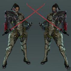 Metal Gear Rising - Jetstream Sam by Sticklove Aliens, Evolve Game, Shining Tears, Raiden Metal Gear, Platinum Games, Metal Gear Rising, Anime Lock Screen, Grey Warden, Futuristic Armour