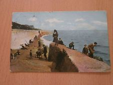 Vintage postcard of children playing on the beach Clacton-on-sea.1908.