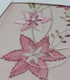 new brazilian embroidery patterns Brazilian Embroidery Stitches, Basic Embroidery Stitches, Hand Embroidery Videos, Hand Embroidery Flowers, Embroidery Sampler, Simple Embroidery, Hand Embroidery Patterns, Embroidery Techniques, Ribbon Embroidery