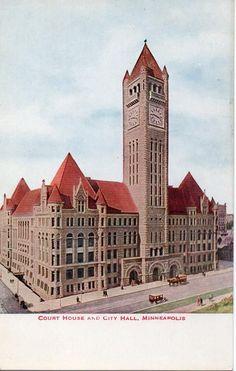 1930 Court House and City Hall Minneapolis Minnesota Vintage Postcard