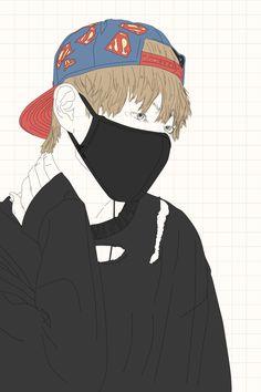 , pls don't reupload v // wallpapers Kpop Drawings, Art Drawings, Art Sketches, Kpop Fanart, Ballerina Sketch, Speed Art, Bts Taehyung, Jimin, Bts Boys