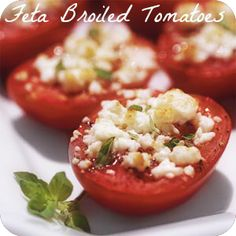 Is your garden over flowing with tomatoes? Try this quick Erecipe for #broiledtomatoes with feta cheese. They make a great side dish for summer entertaining! #innatwestwyndfarm