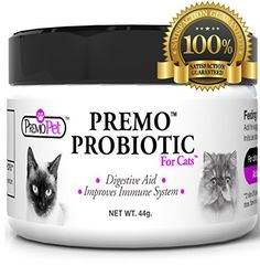 PROBIOTICS FOR CATS  100 Guarantee  Best For Diarrhea Vomiting Gas Skin Conditions  Tasteless  No Fillers  Non GMO  Wheat  Dairy Free  GMP Certified  Veterinarian Approved -- Want to know more, click on the image.Note:It is affiliate link to Amazon.