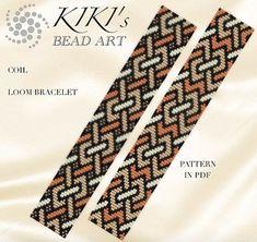 Beaded loom bracelet pattern P