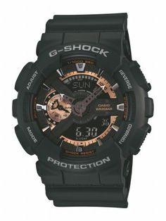 G-Shock horloge ga-110rg-1aer | Stoer herenhorloge met rosé gouden details | Koop jouw G-Shock horloges voordelig online op http://www.horlogesstyle.nl/g-shock-horloges #gshock #herenhorloges #watch