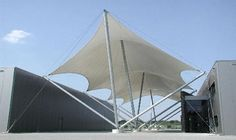 Tensile Structures from Poly-Ned - Tensioned fabric, membrane, roof, dome, tensile structure, podium