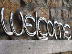 Welcome Horseshoe Sign