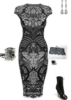 """Wedding guest attire idea. """"victorian eraish"""" by kristal-coon-facemyer ❤ liked on Polyvore"""