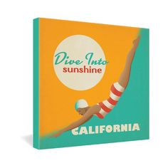 DENY Designs Anderson Design Group Dive California Gallery Wrapped Canvas | Wayfair