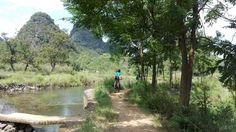 cycling in the countryside of Yangshuo