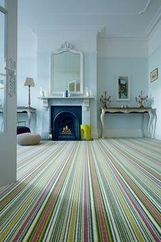 Pretty striped carpet.