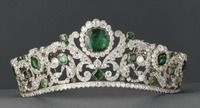 Évrard and Frédéric Bapst (French jewelers, Paris), Crown of the Duchess of Angoulême, 1819-1820, gold and gilded silver set with 40 emeralds and 1031 diamonds, Louvre