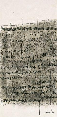 Mira Schendel, Archaic Writing, 1964, Blanton Museum of Art