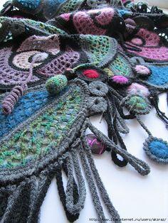 Crochet Shawl + Diagrams + Pattern