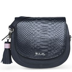 Il Tutto Eliza Mini Bag in Navy Python Leather. Nappy Bags, Pink Leather, Python, Mini Bag, Saddle Bags, Leather Handbags, Snake, Stylish, Leather Totes