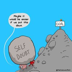 The Awkward Yeti - Self Doubt Heart And Brain Comic, The Awkward Yeti, Awkward Meme, Akward Yeti, Motivational Quotes, Inspirational Quotes, Hustle Quotes, Wholesome Memes, Life Coaching