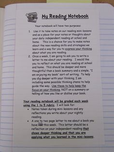 Teaching My Friends!: My Reading Notebooks - direct link to blog post