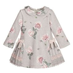 92d86cfef Lapin House Grey Rose Printed Jersey Dress ❤ liked on Polyvore featuring  dresses, long sleeve · Baby Girl FashionKids ...