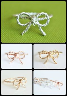 custom bow ring - choose your metal and size.... muyinjewelry.com