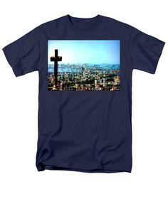 Men's T-Shirt (Regular Fit) - Stone Cross In Cartagena Colombia